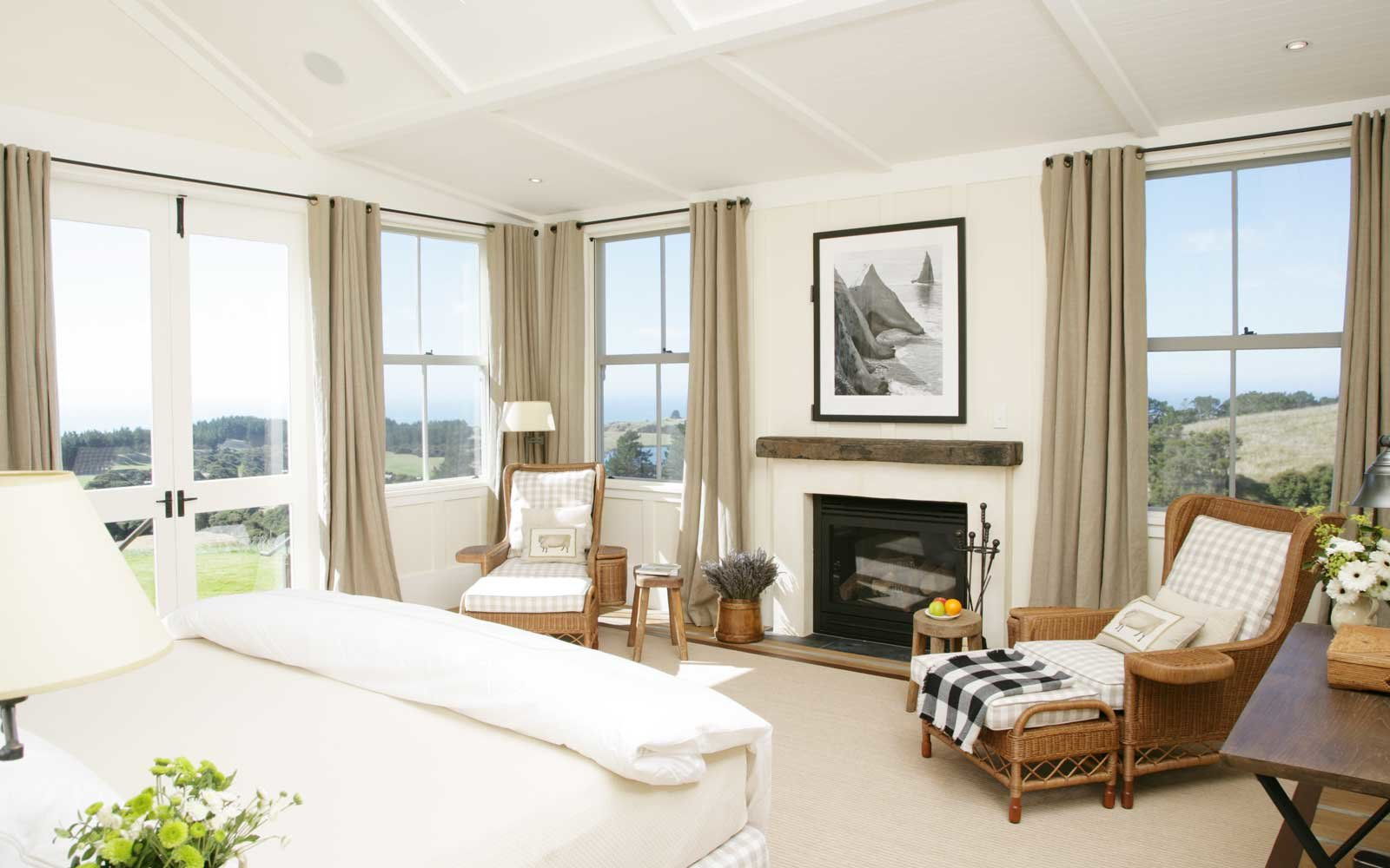 Interior of a suite at the Farm at Cape Kidnappers