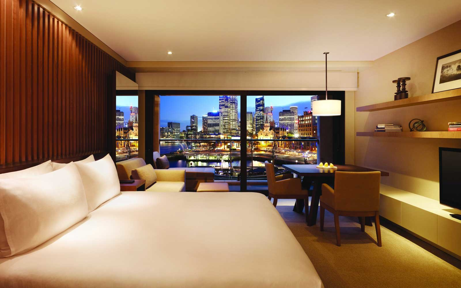 View from a room at the Park Hyatt Sydney