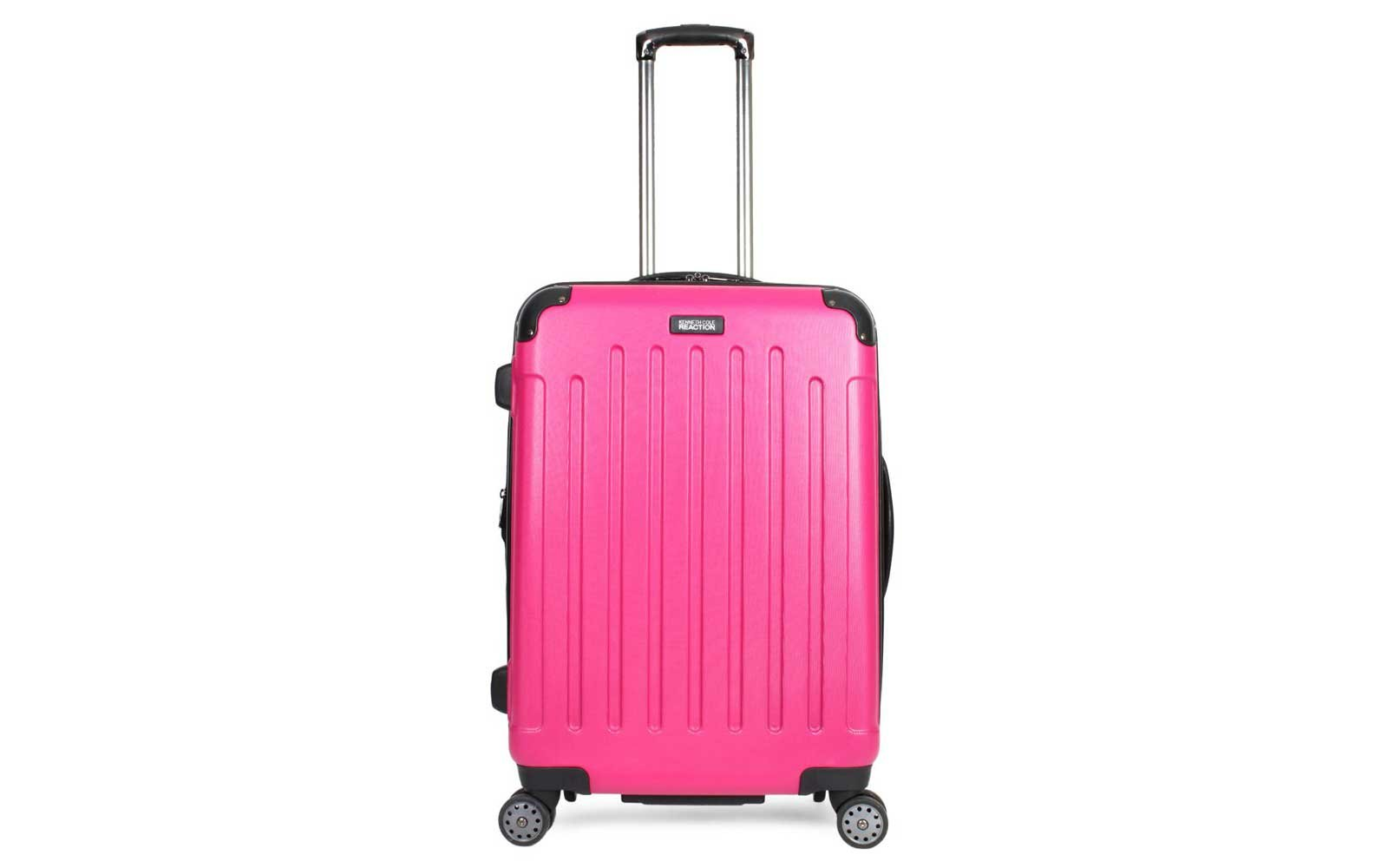 Kenneth Cole Reaction 8-wheel Spinner Trolley bag in magenta