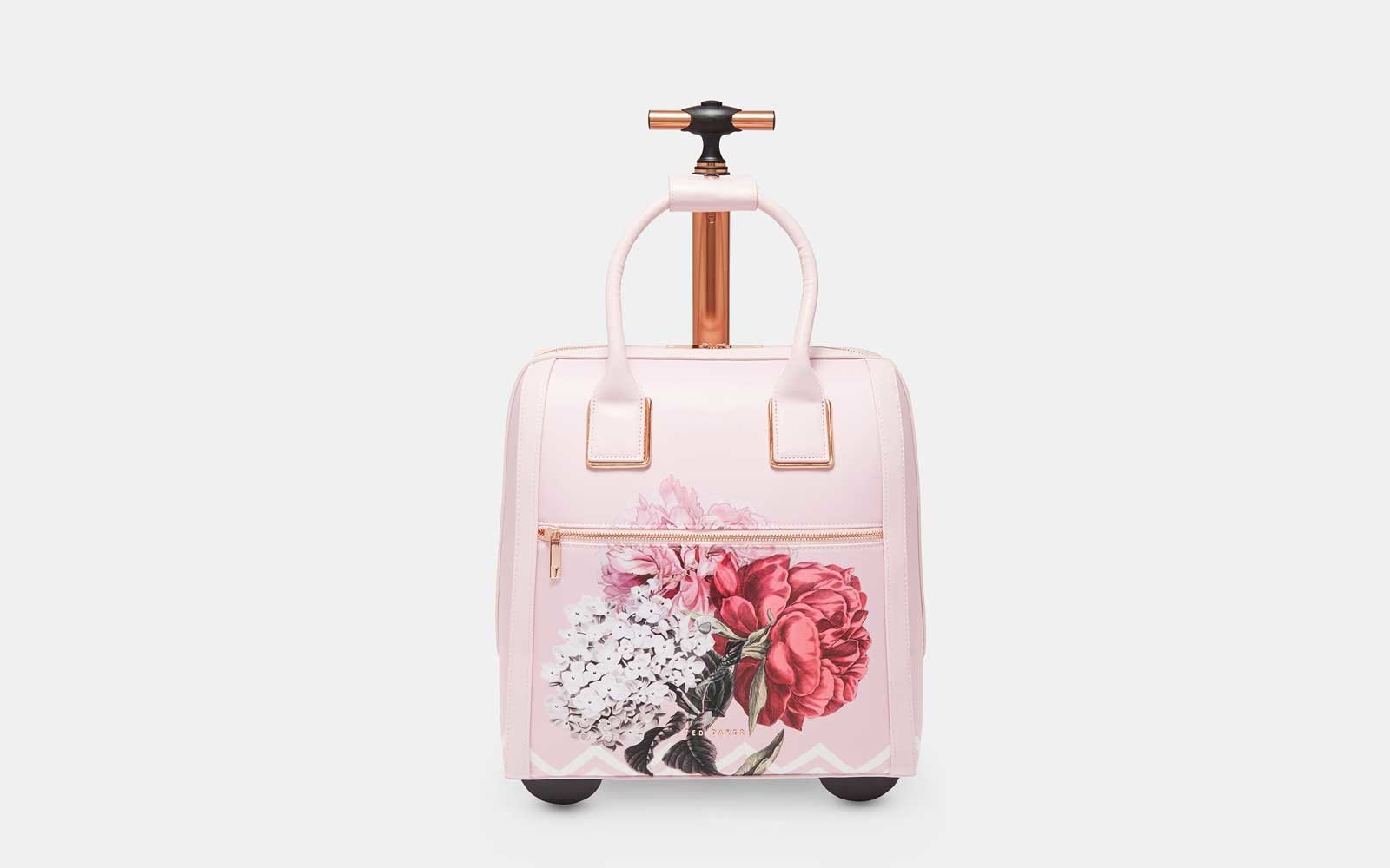 Ted Baker Travel Bag with Wheels in dusky pink