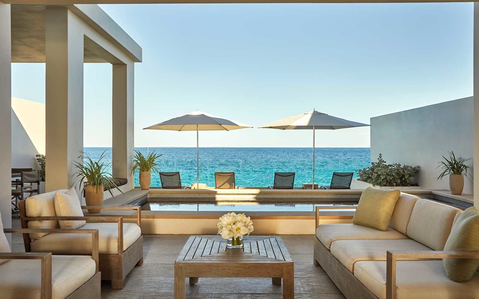 View from the Four Seasons resort in Anguilla