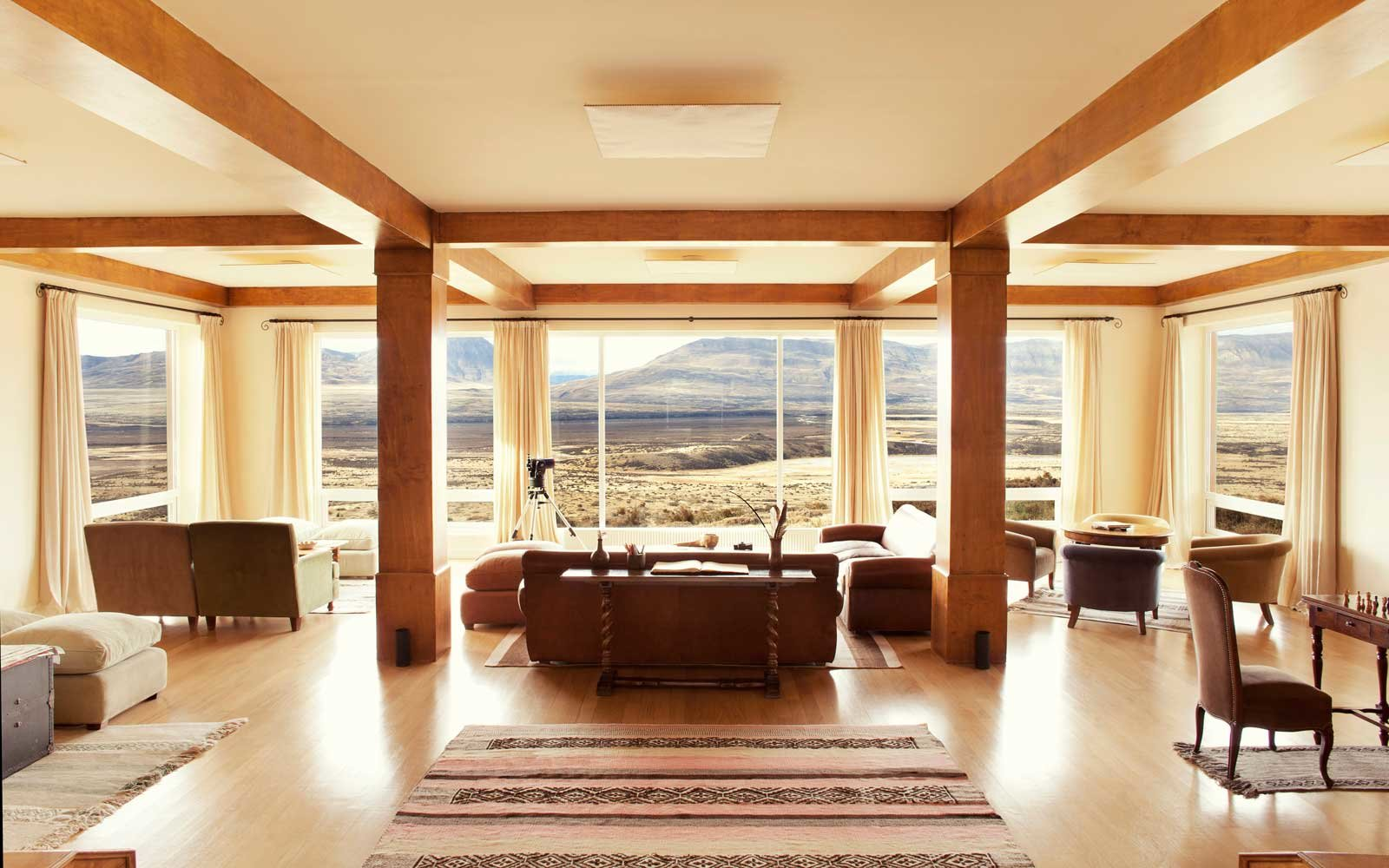 Living room with a view at EOLO resort