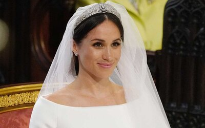 b33effd5106a Meghan Markle stands at the altar during her wedding in St George s Chapel  at Windsor Castle