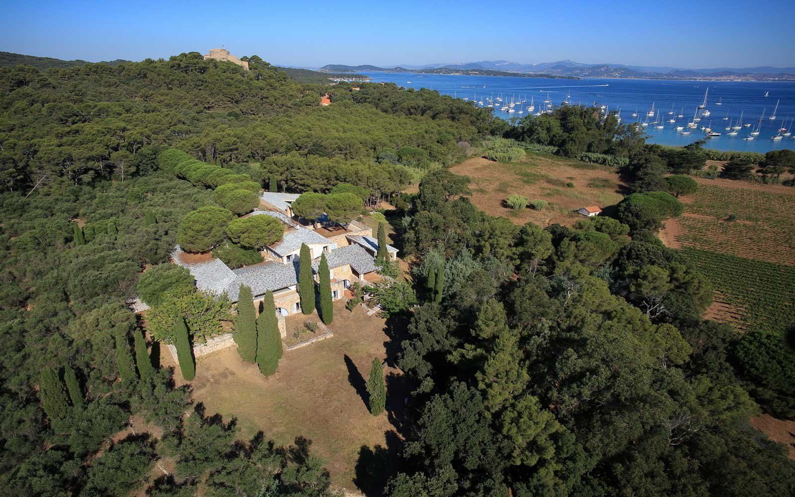 Aerial view of the Fondation Carmignac, in France