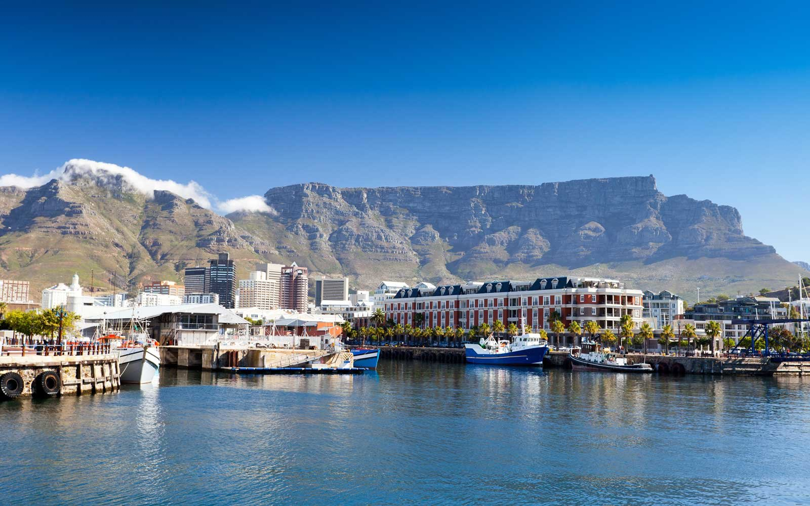 Sunny day at the Victoria & Albert Waterfront, in Cape Town, South Africa