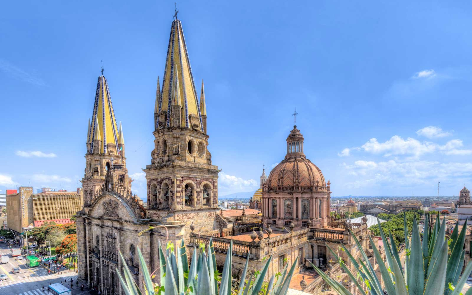 Guadalajara cathedral in Mexico