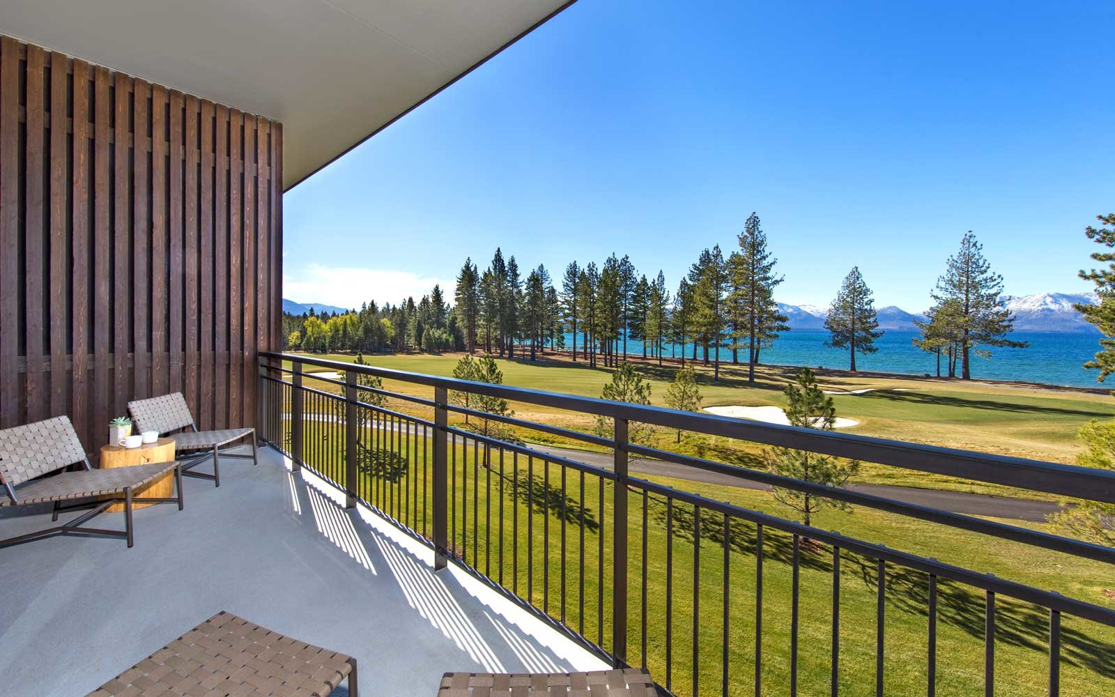 View from a room at the Lodge at Edgewood Tahoe