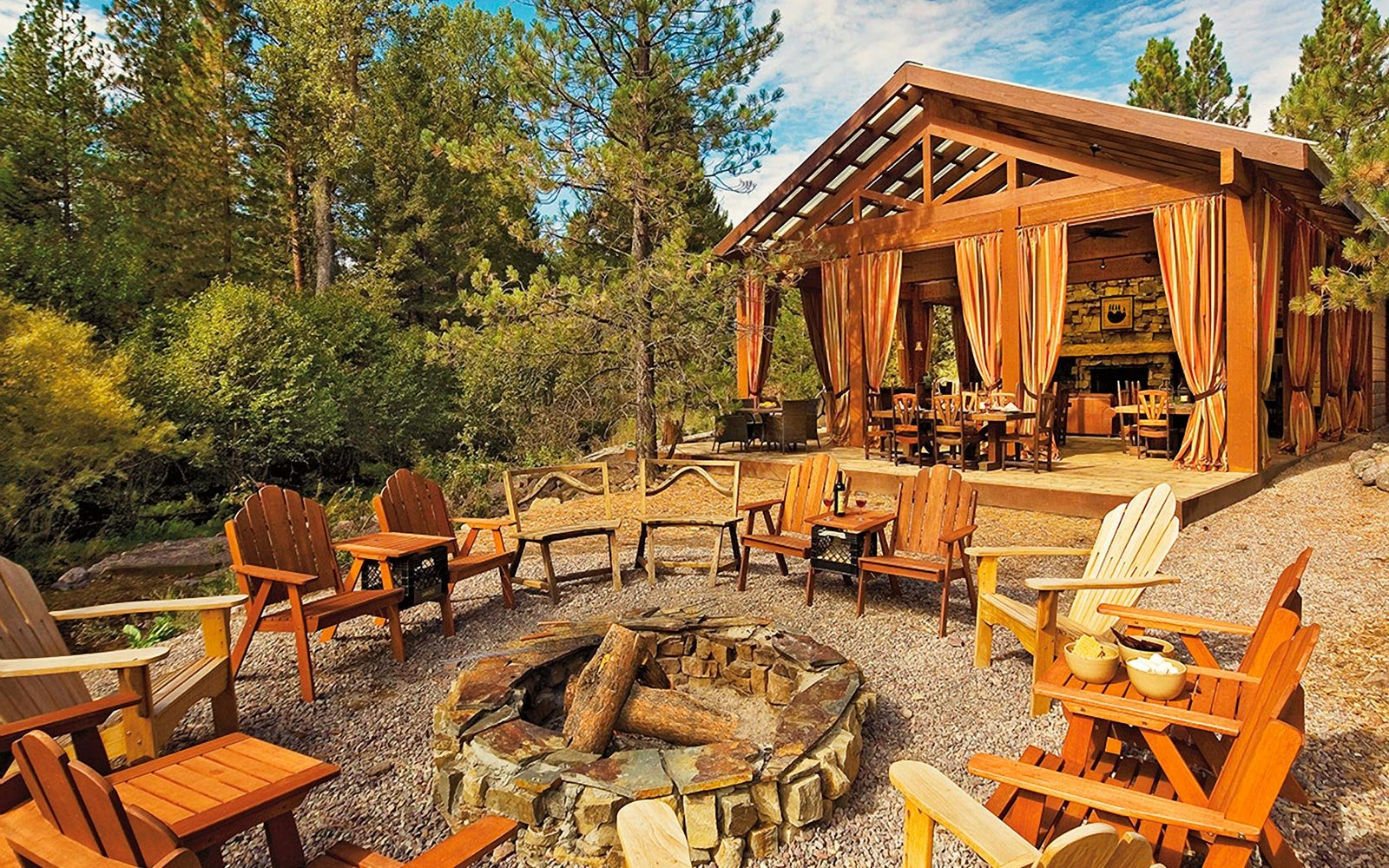 Cabin accommodations at Paws Up