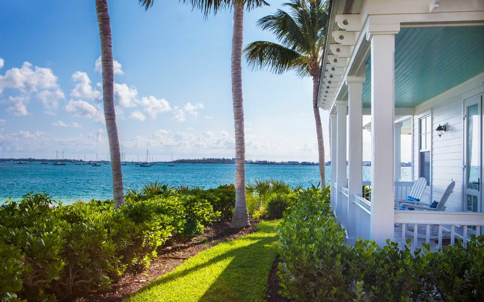 Porch at Sunset Key Cottages in Key West, Florida