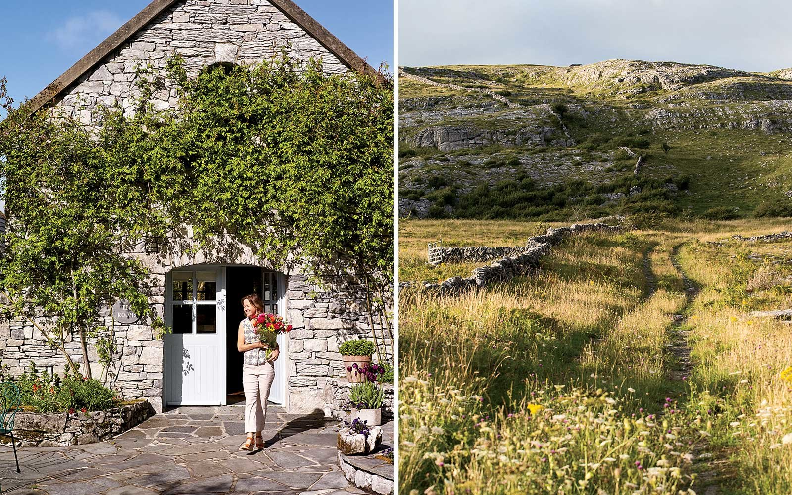 Sadie at the Burren Perfumery, and the countryside surrounding the property