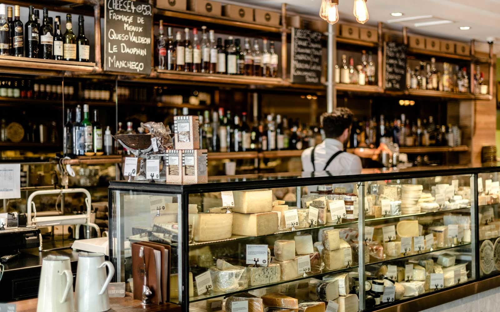 Cheese counter at Milk the Cow in Melbourne, Australia
