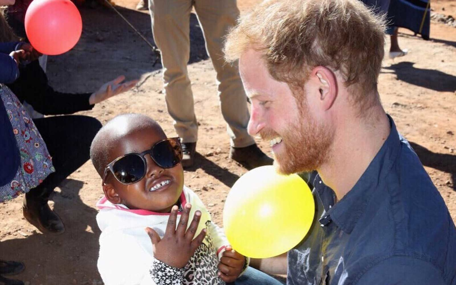 Prince Harry visiting the Sentebale projects in Lesotho