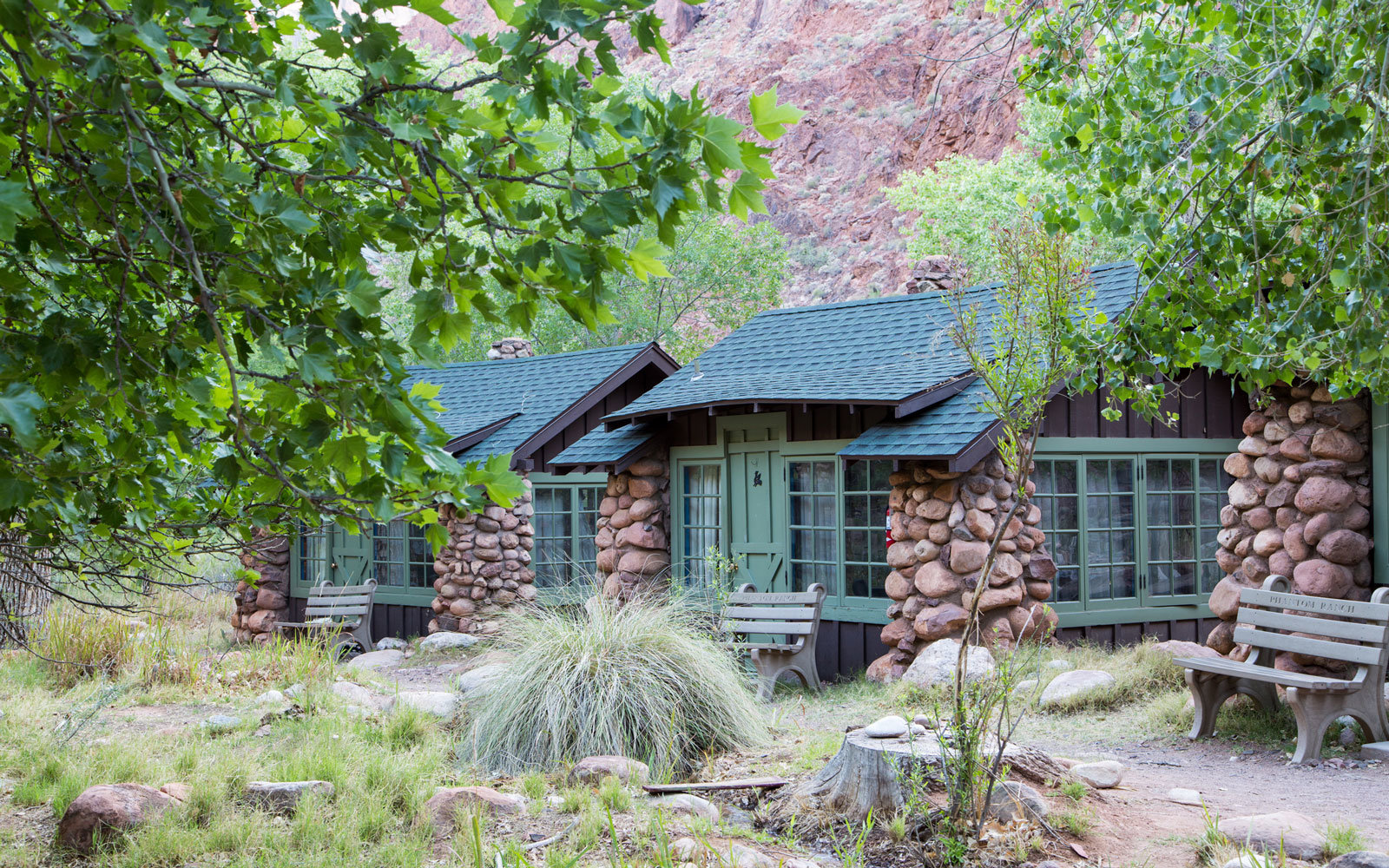 Stay in the Grand Canyon National Park at the Phantom Ranch.