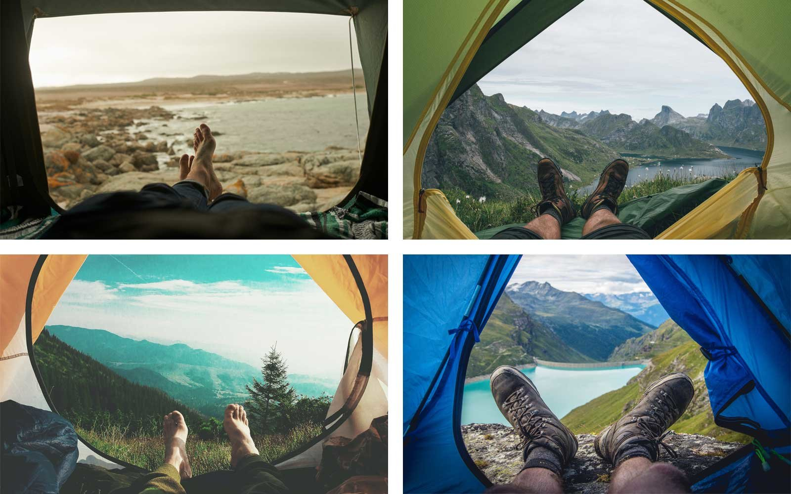 Feet and Camping Tent View - a popular image to capture