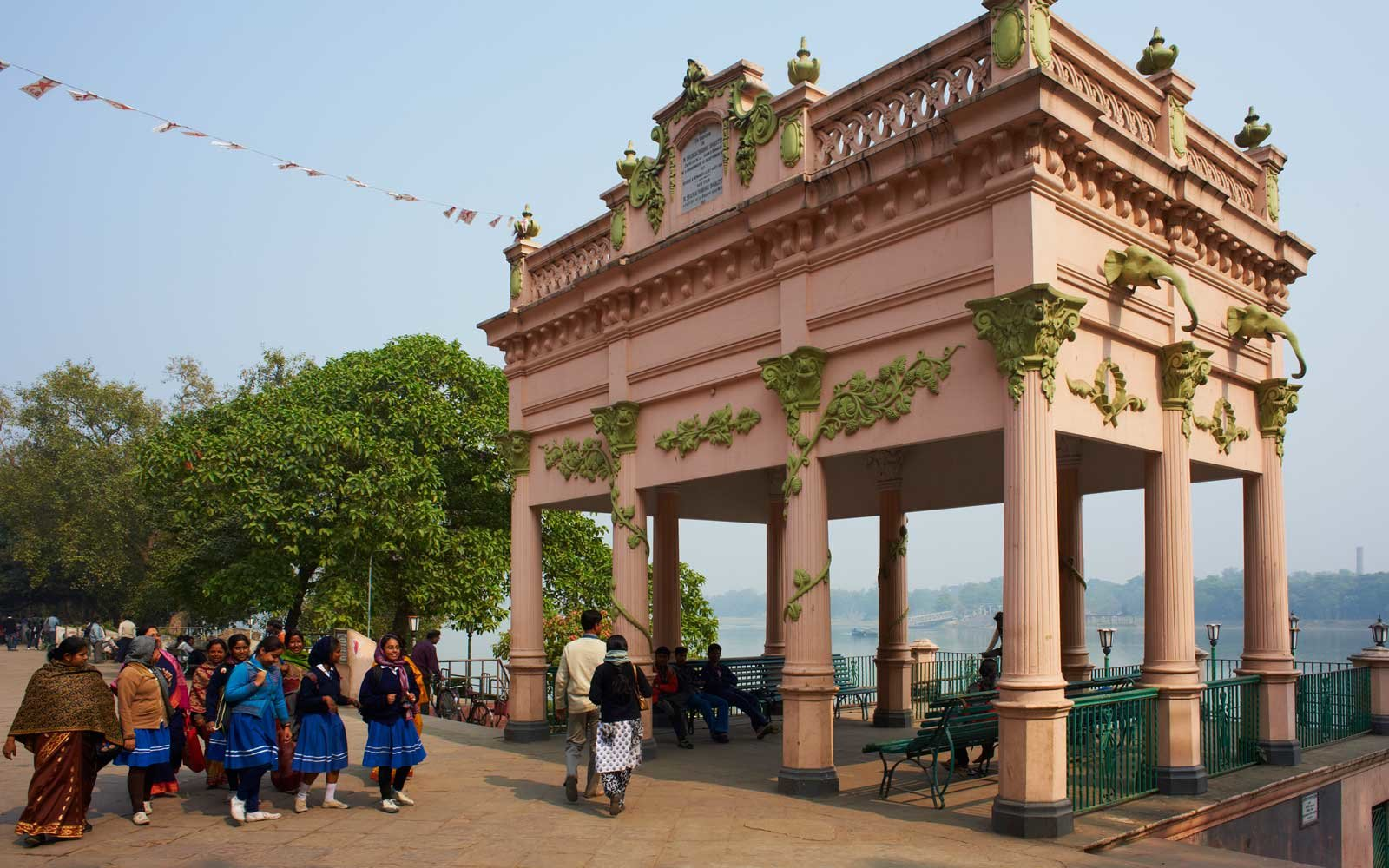 Kiosk built in 1921 by Mr. Roquitte, City of Chandannagar, West Bengal, India