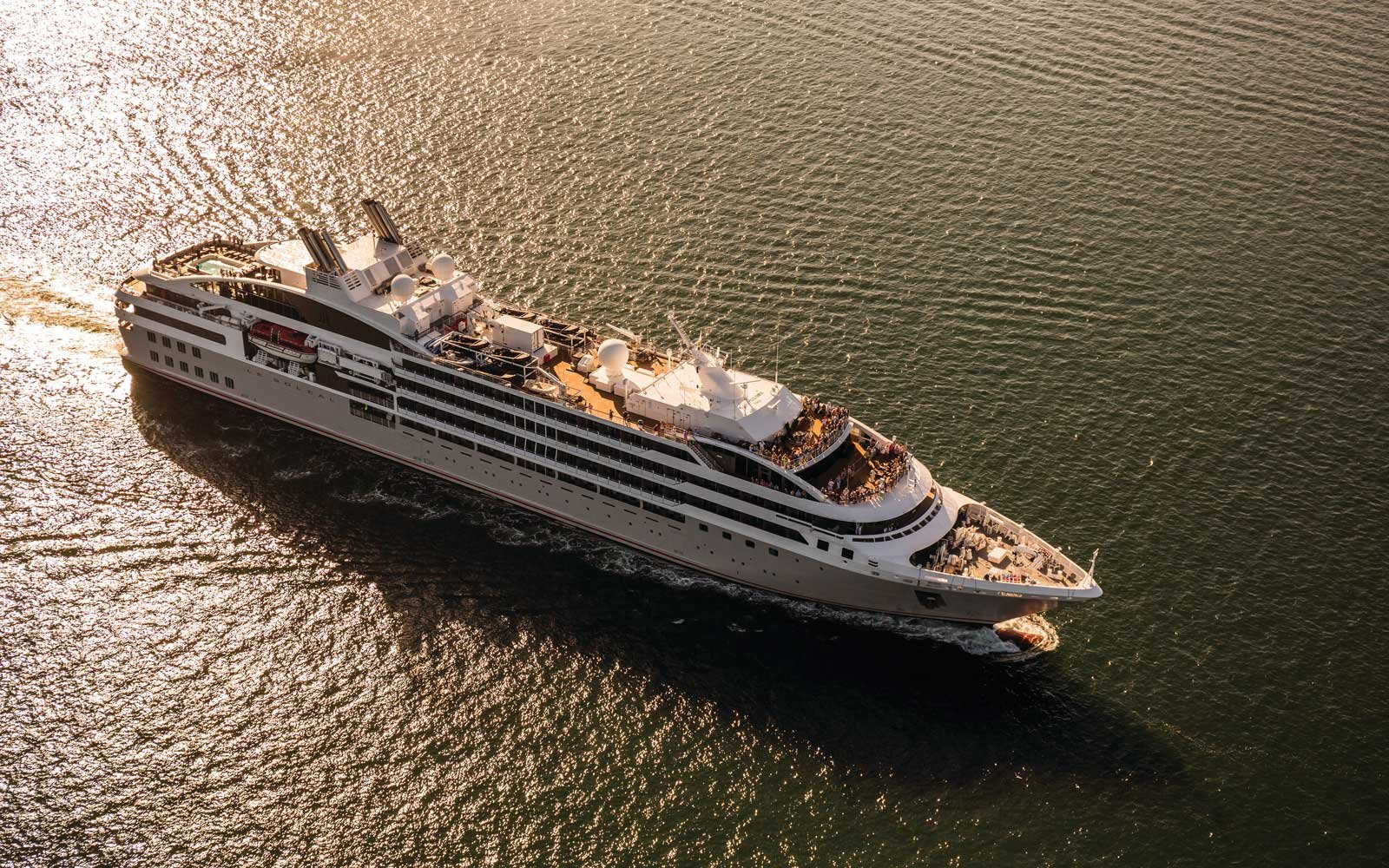 Le Soleal cruise ship partnership between Tauck and Ponant