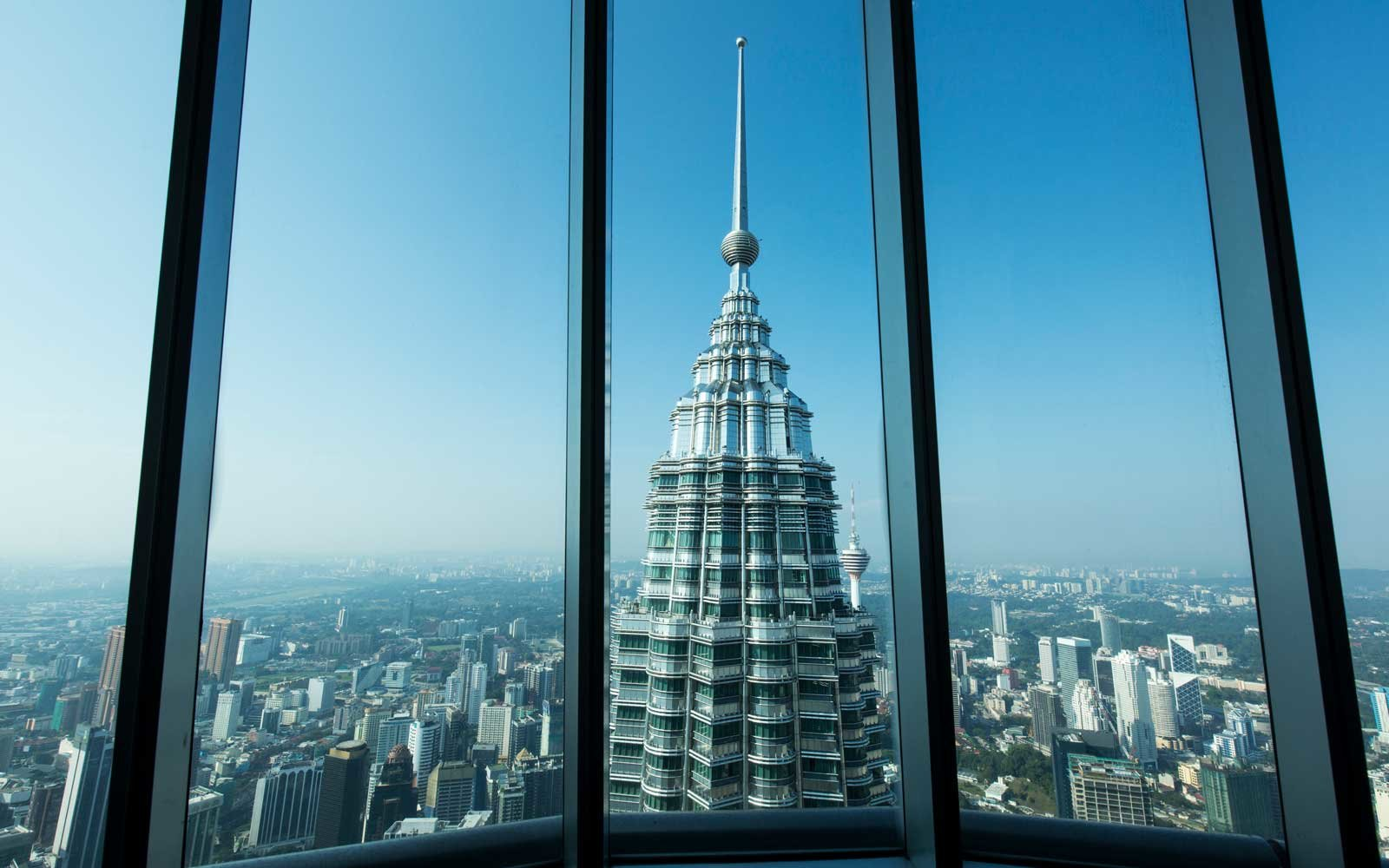 View from Observation Deck on Petronas Towers, Kuala Lumpur, Malaysia