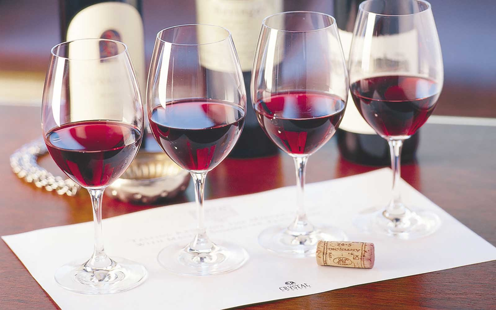 Wine tasting on board the Crystal Serenity cruise ship