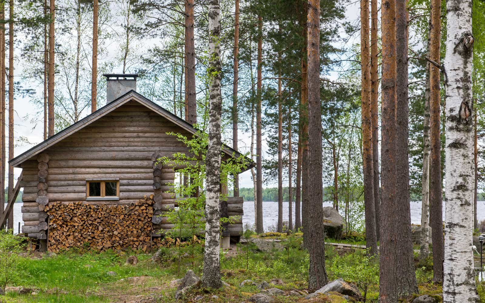 Traditional sauna in Finland