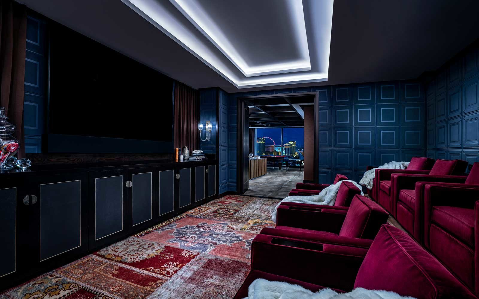 Enjoy movies from the comfort of your room at the cinema suite.