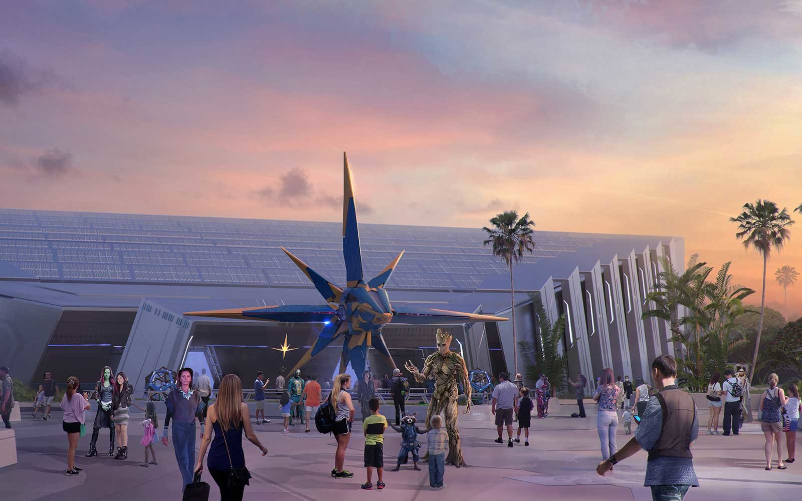 Disney Marvel Roller Coaster Guardians of the Galaxy Epcot
