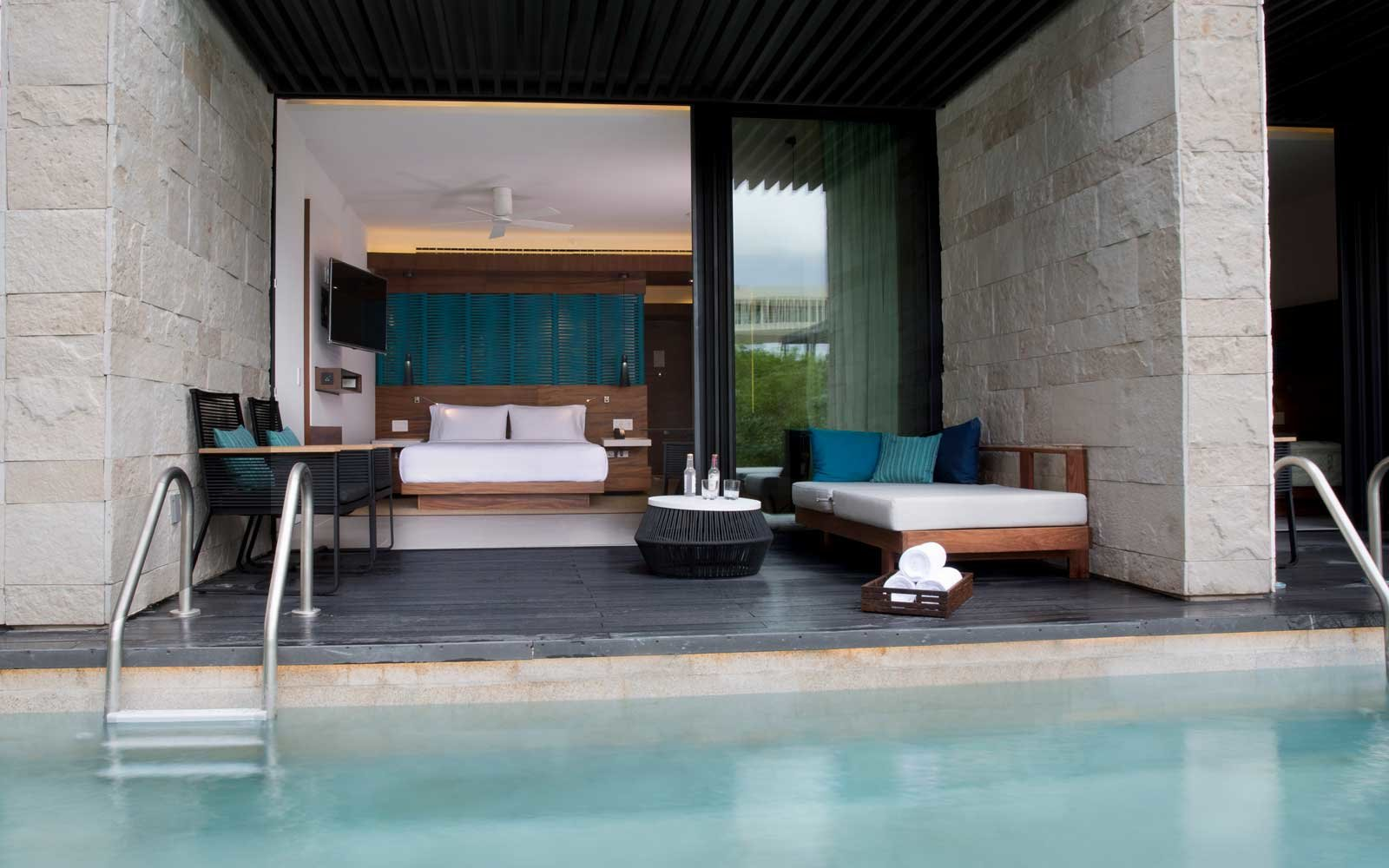 View to a room at the Hyatt Hotel in Playa del Carmen