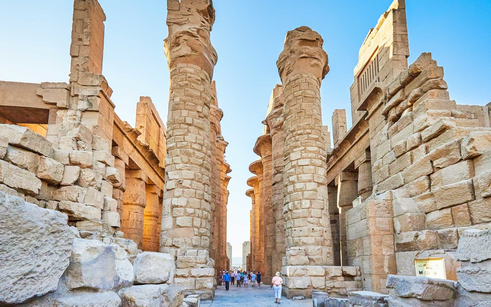 The Karnak Temple Complex, commonly known as Karnak, comprises a vast mix of decayed temples, chapels, pylons, and other buildings. Building at the complex began during the reign of Senusret I.