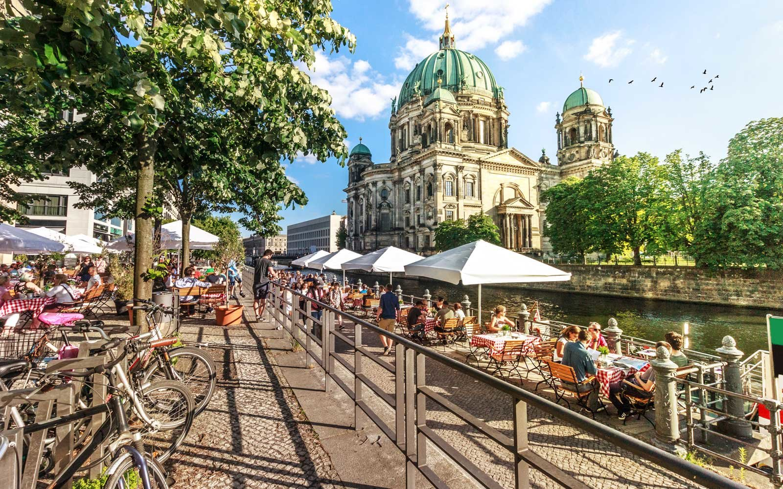 View of Spree River and Berliner Dom, Berlin, Germany