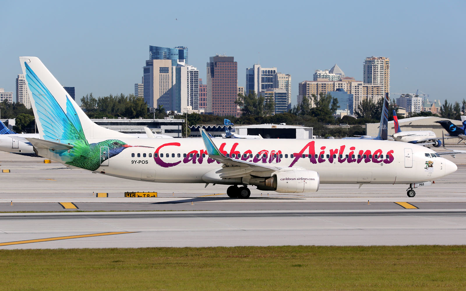 Caribbean Airlines at the Fort Lauderdale Airport