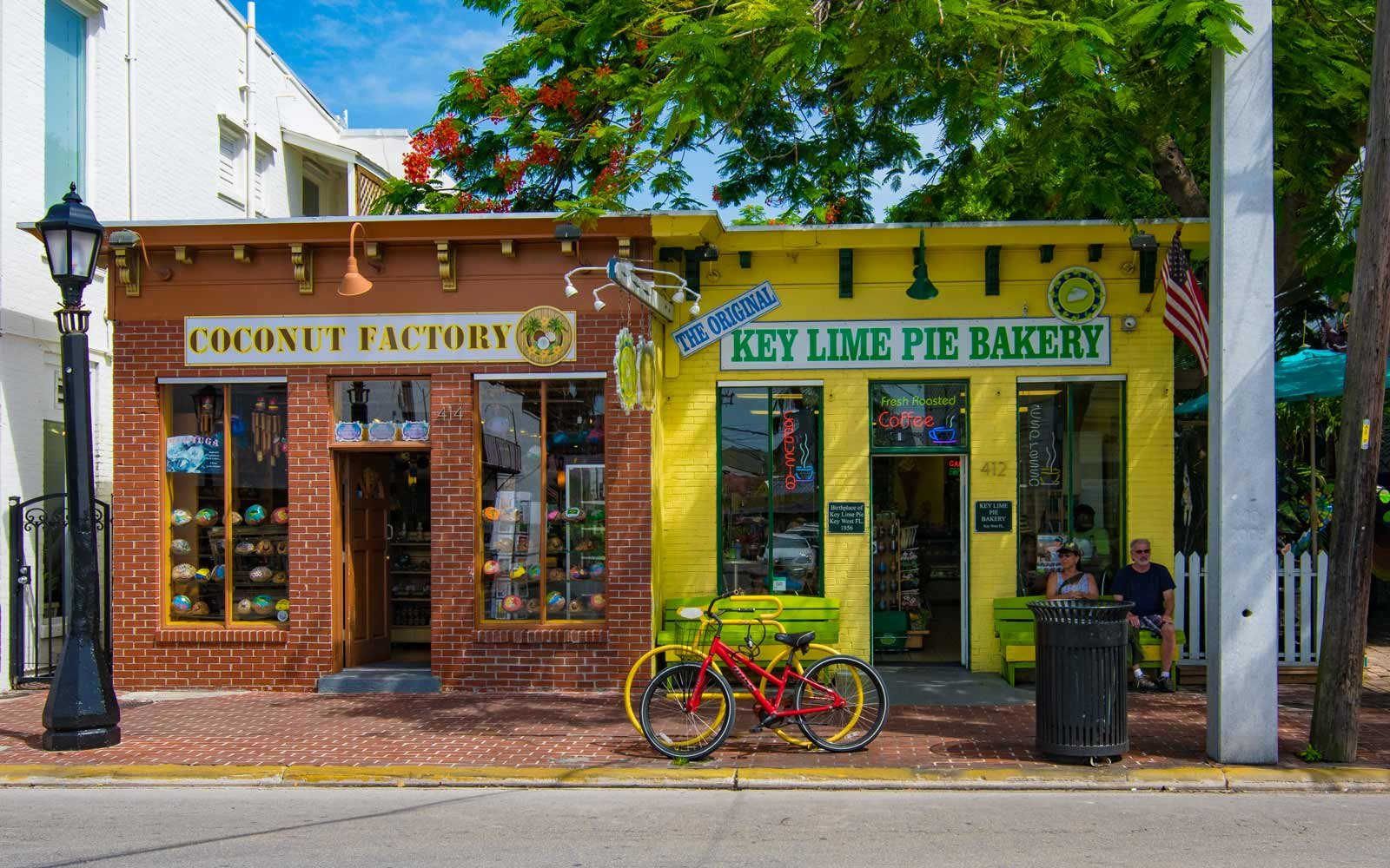 Colorful storefronts in Key West, Florida