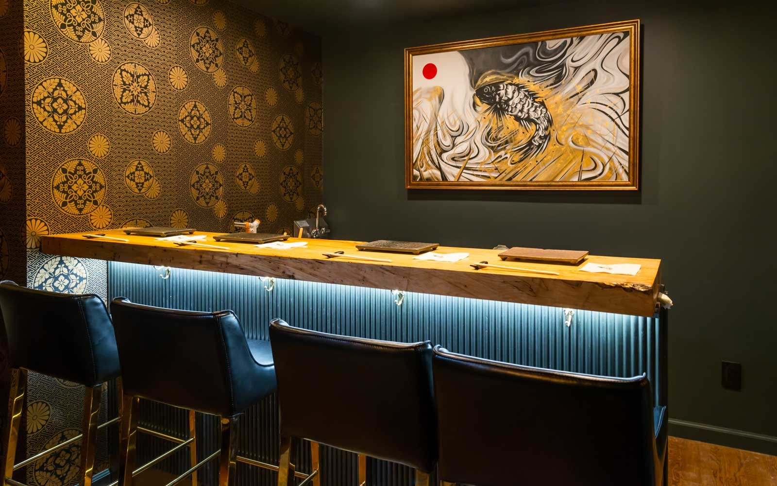 Sushi by Bou Suite 1001 includes a four-seat sushi bar.