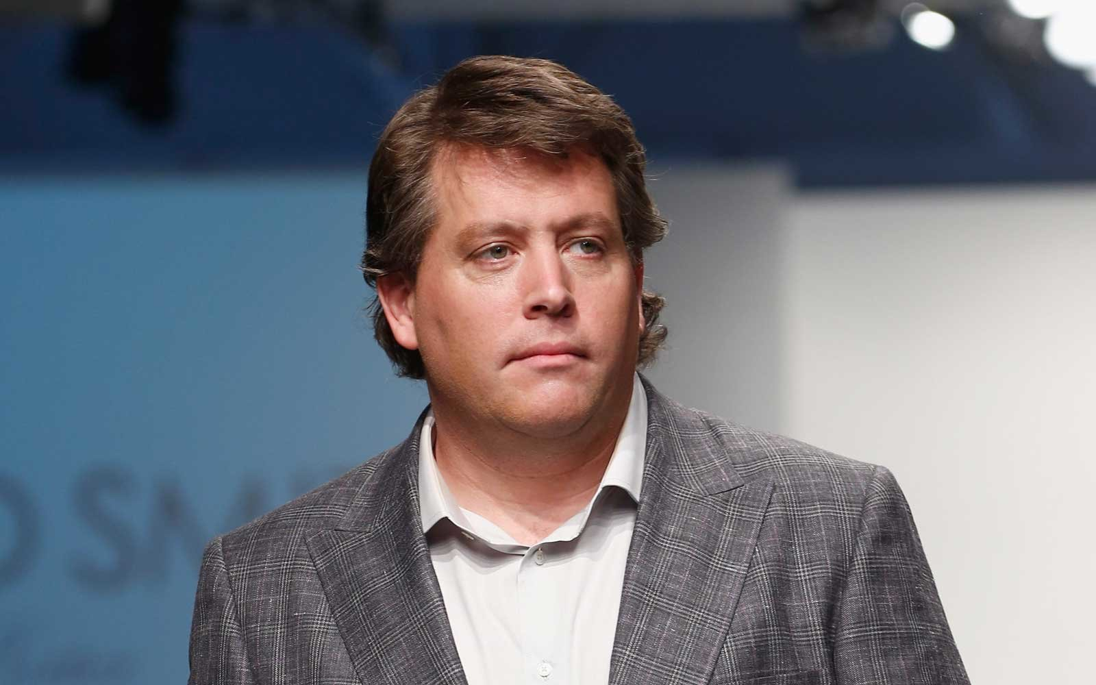 Peter Shankman, Social Media personality and Founder of HARO, walks the runway during the Richard Smith Pret a Porter show during Nolcha Fashion Week New York at Pier 59 Studios on September 12, 2012 in New York City.