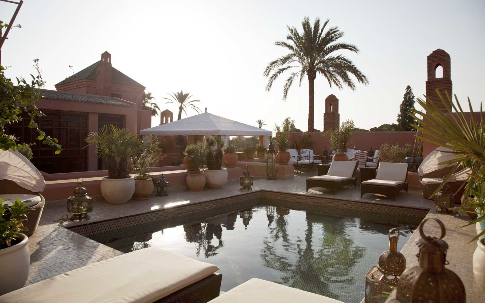 Pool at the Royal Mansour Hotel in Marrakech, Morocco
