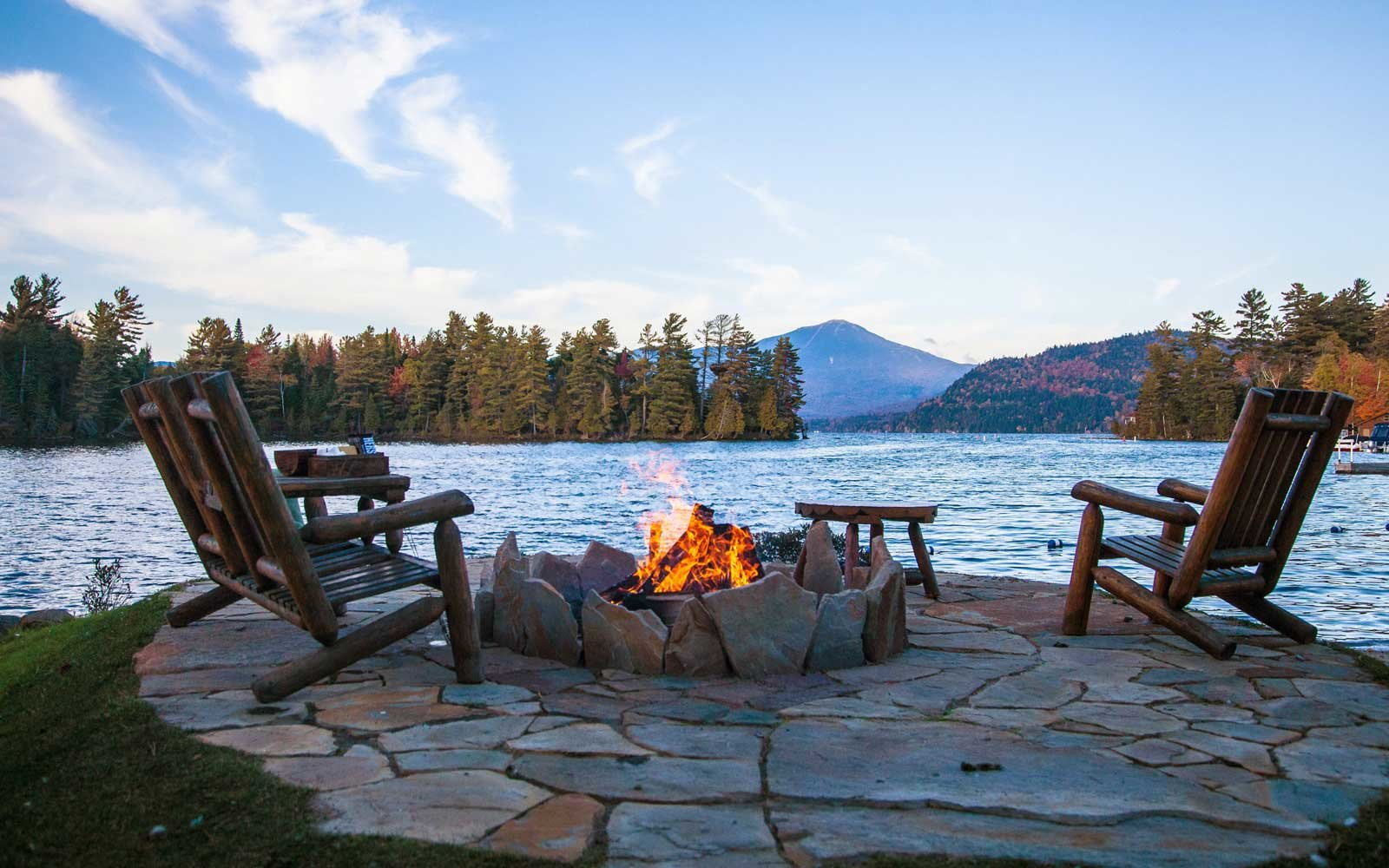 Fireside at Whiteface lodge