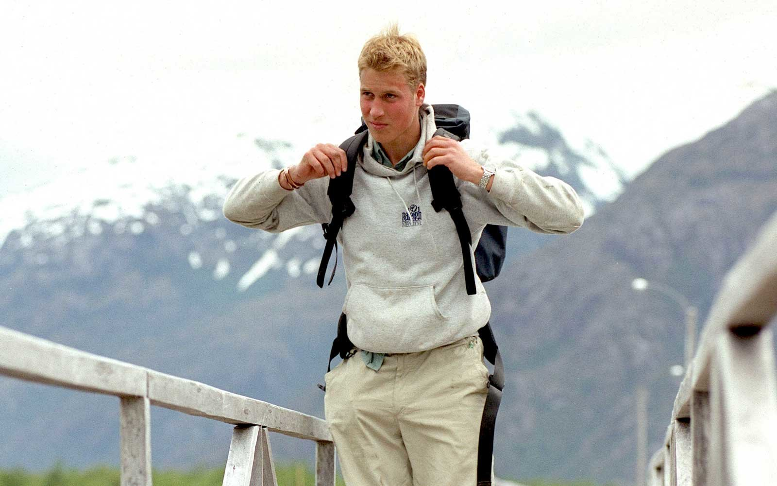 Prince William during his Raleigh International expedition December 7, 2000 in the village of Tortel, Southern Chile.
