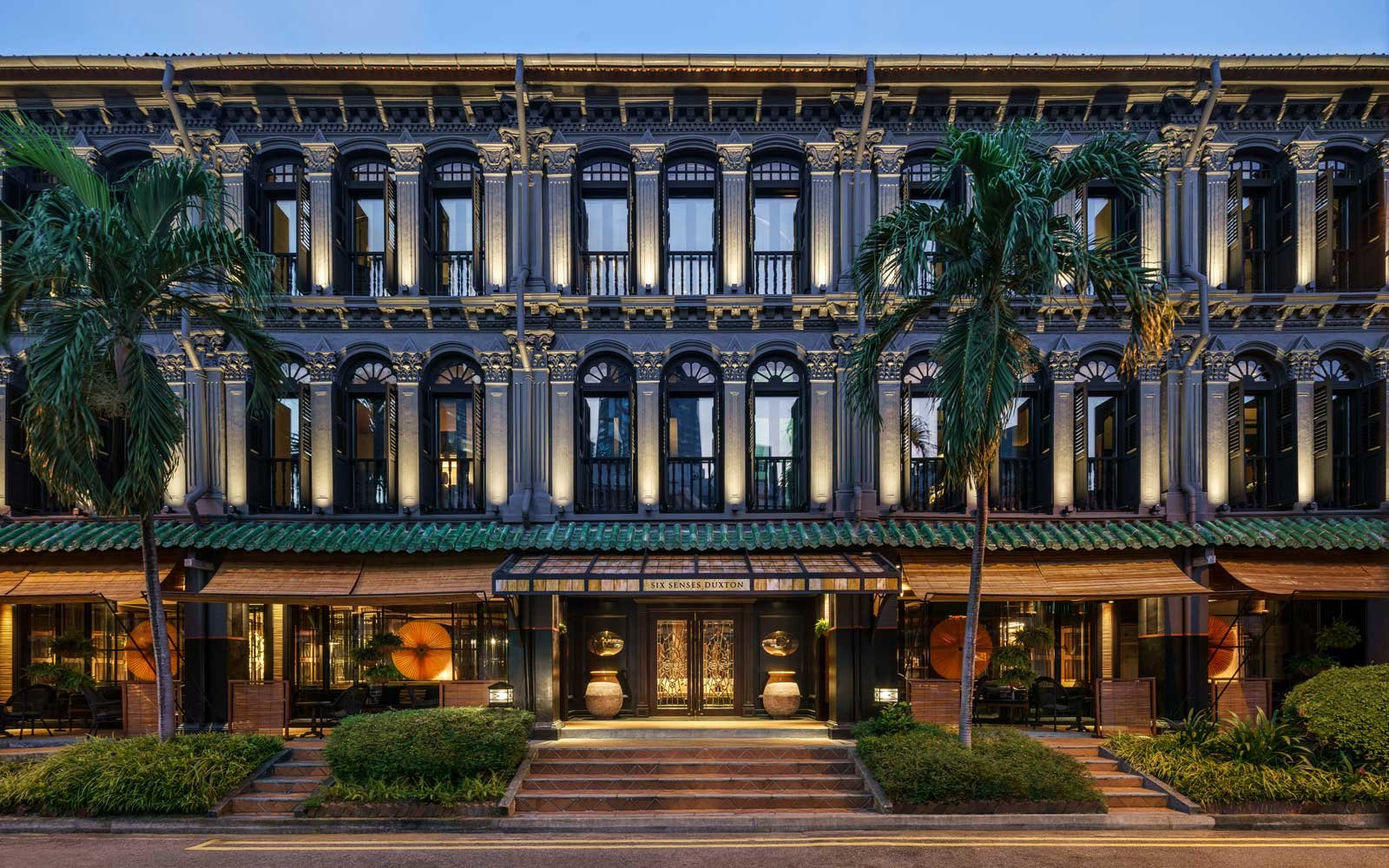 Exterior of the Six Senses Duxton hotel in Singapore