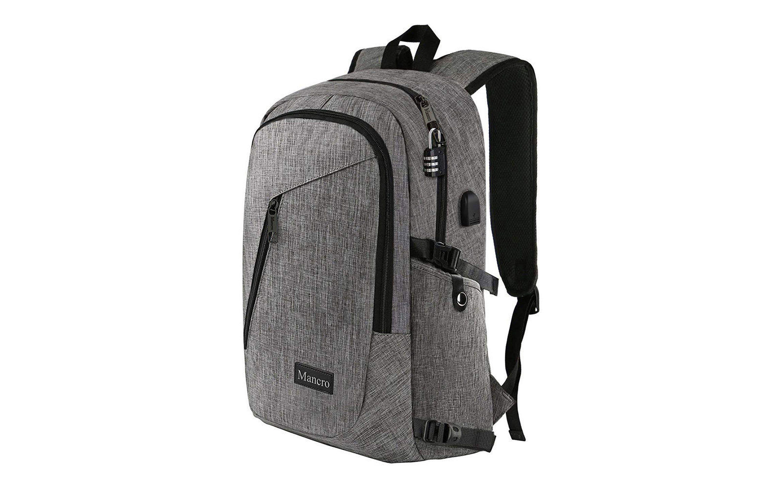 Travel Anti Theft Backpack With USB Charging Port