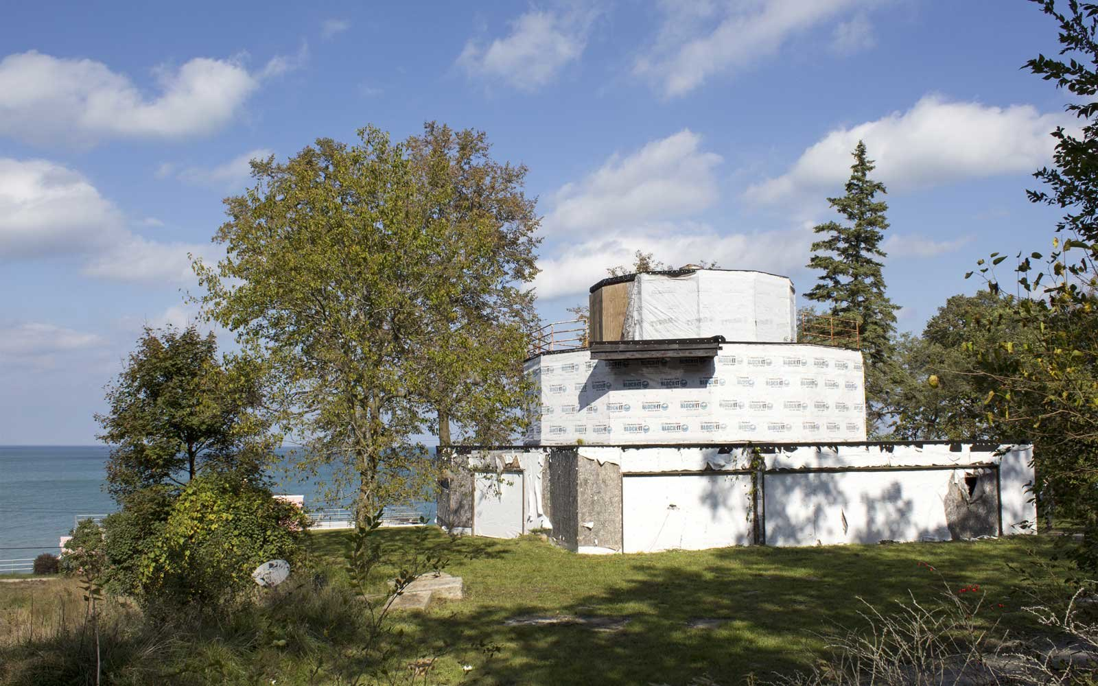 Exterior of the soon to be restored House of Tomorrow at Indiana Dunes