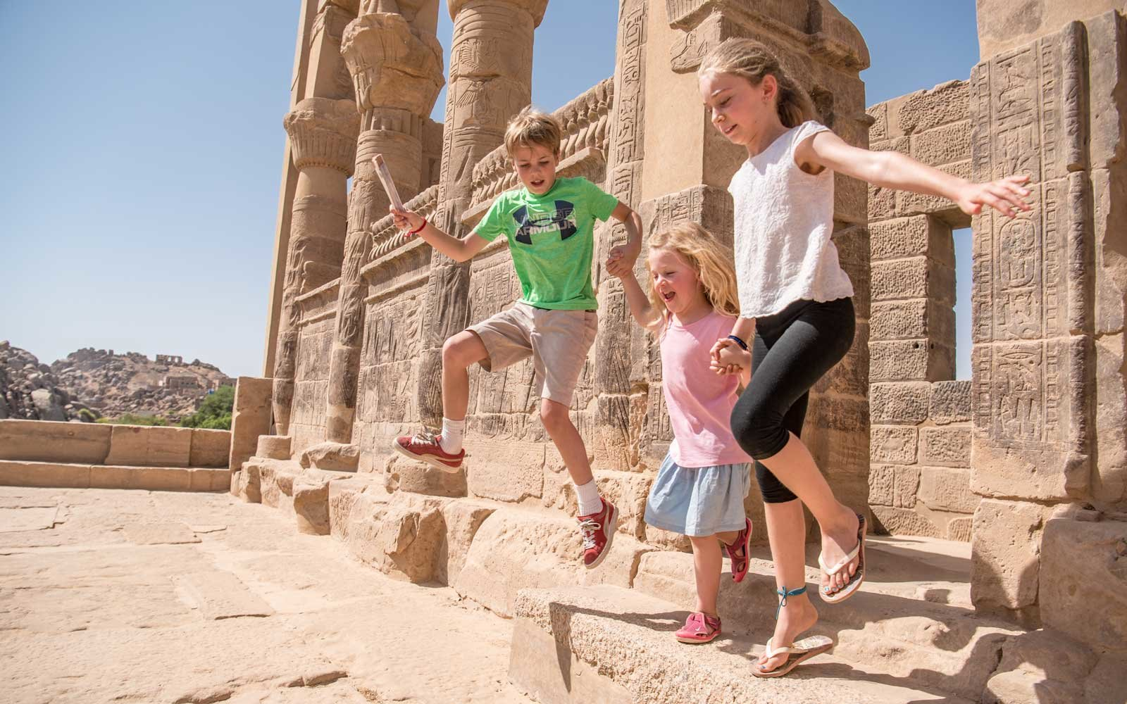 Kids of Aimee Brady in Egypt