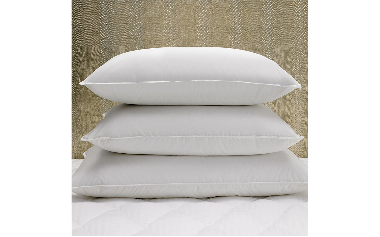 The W Striped Cover & Down Pillow