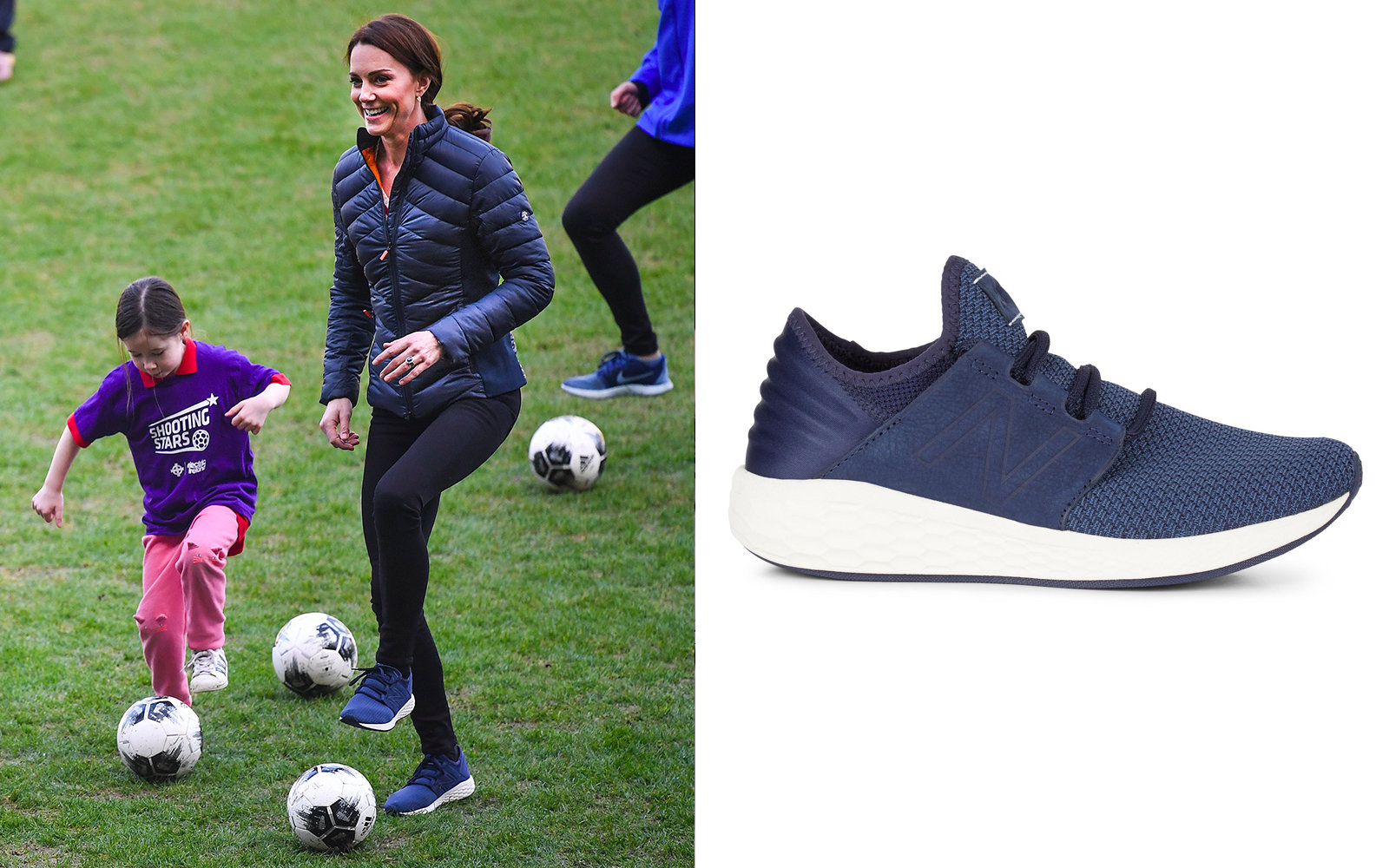 Kate Middleton in New Balance Fresh Foam Cruz Sneakers