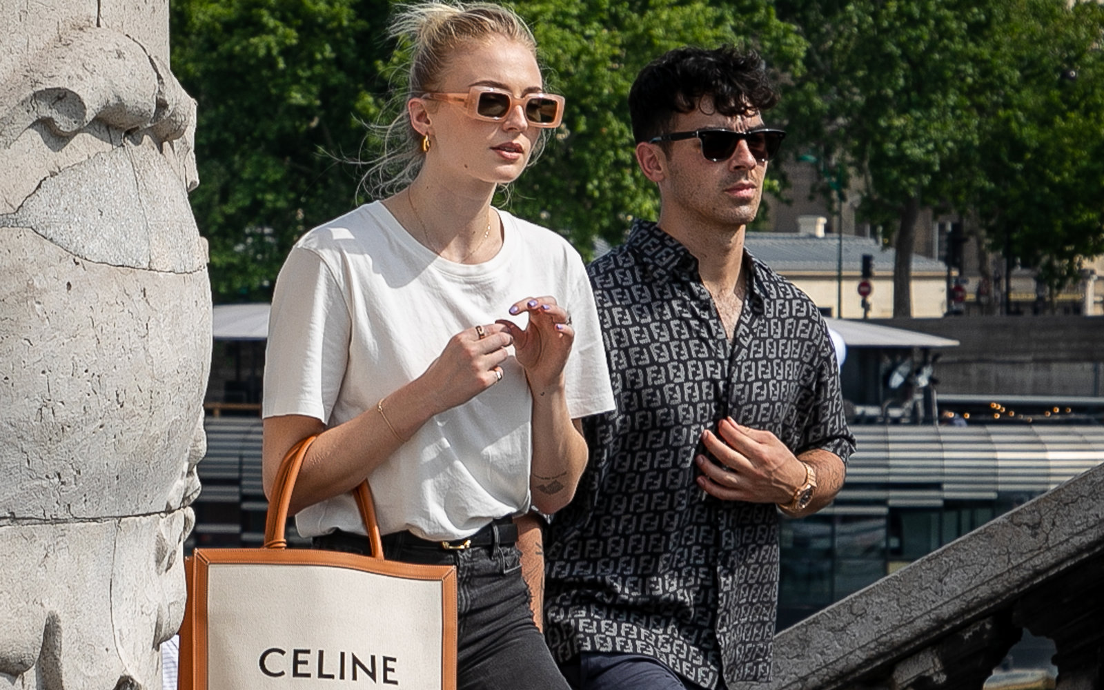 Sophie Turner and Joe Jonas in Paris, June 2019