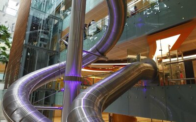 This Airport Has a Massive Slide That Will Take You to Your