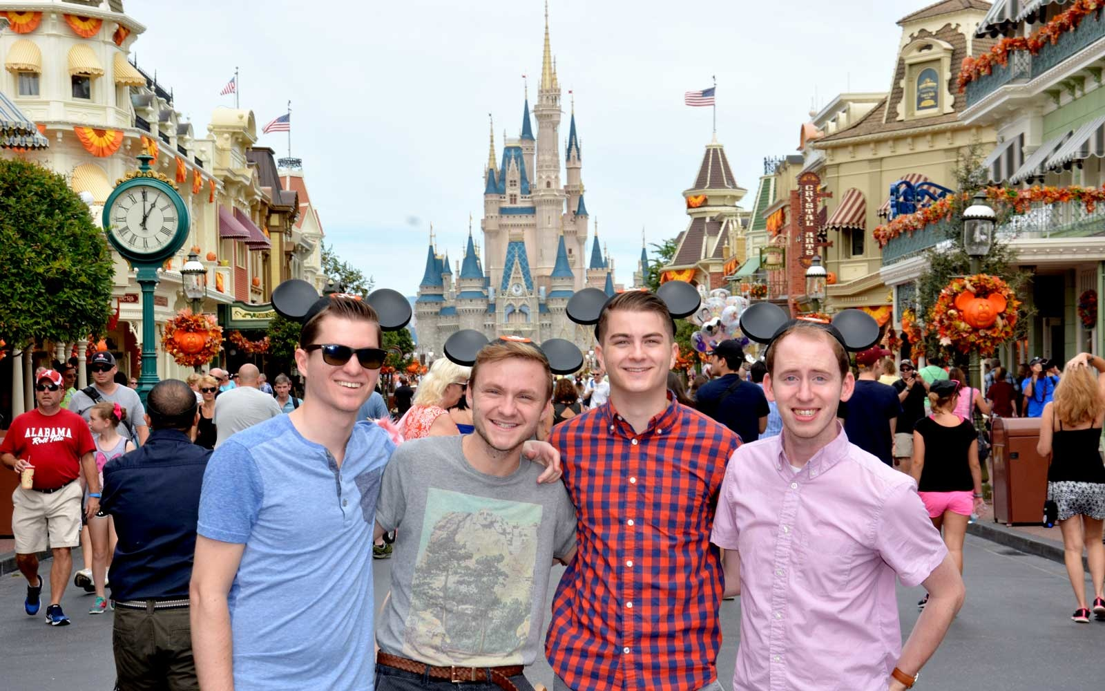 Four men at Disney World