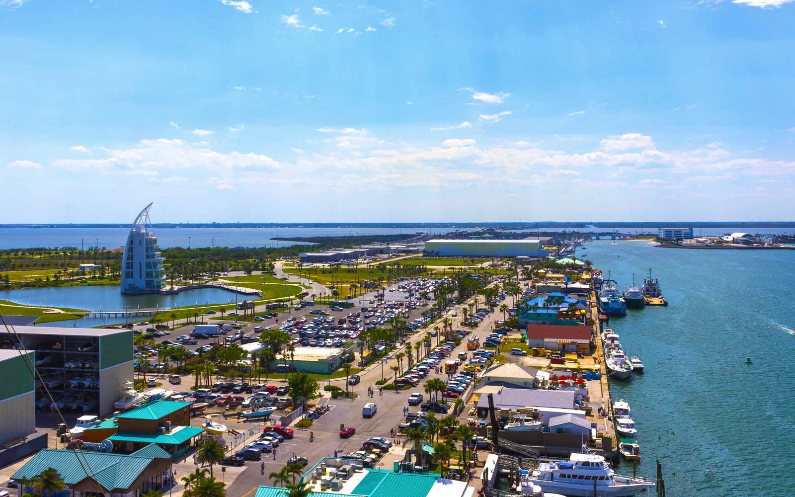 The arial view of port Canaveral