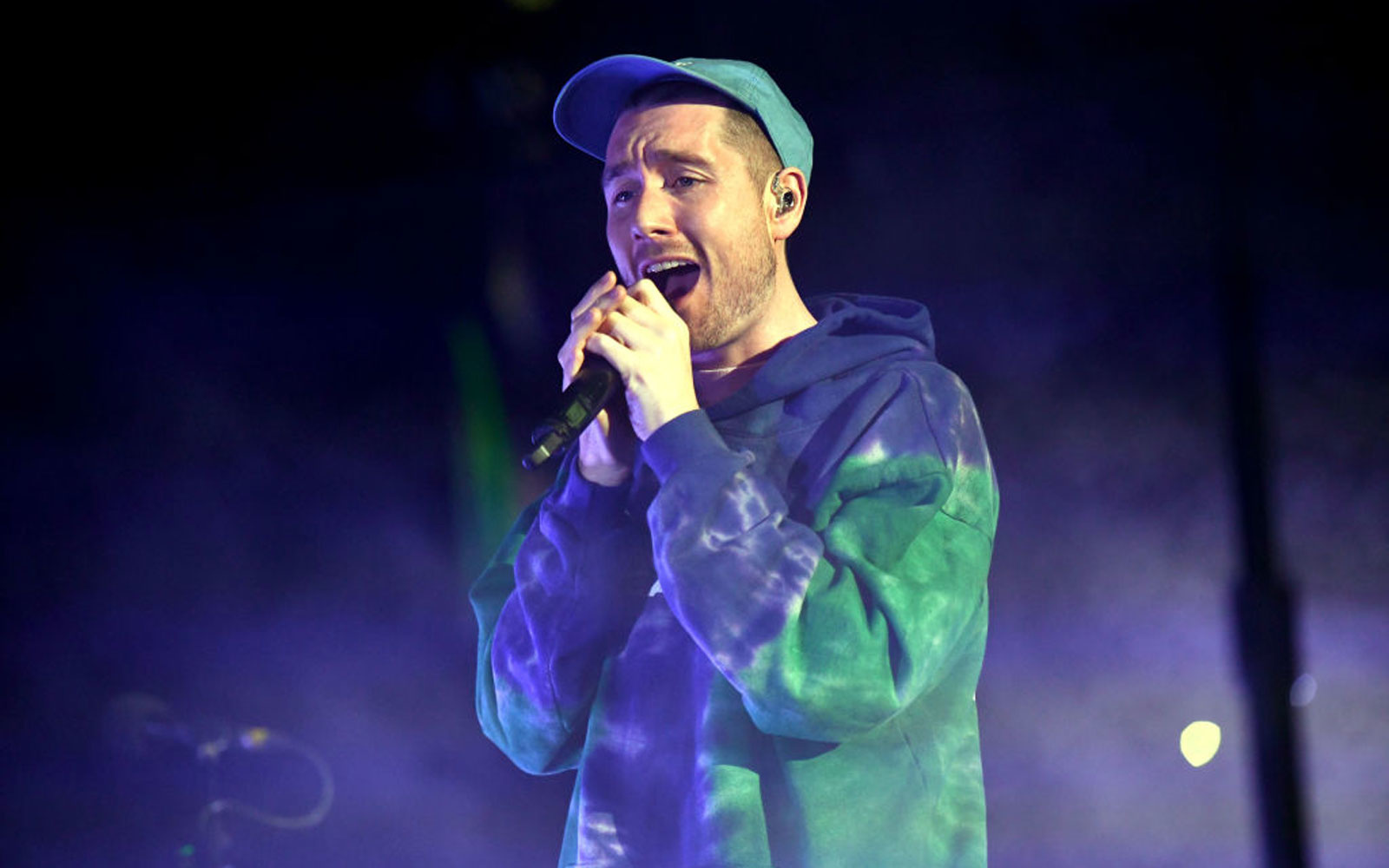 Singer Dan Smith of the band Bastille performs onstage
