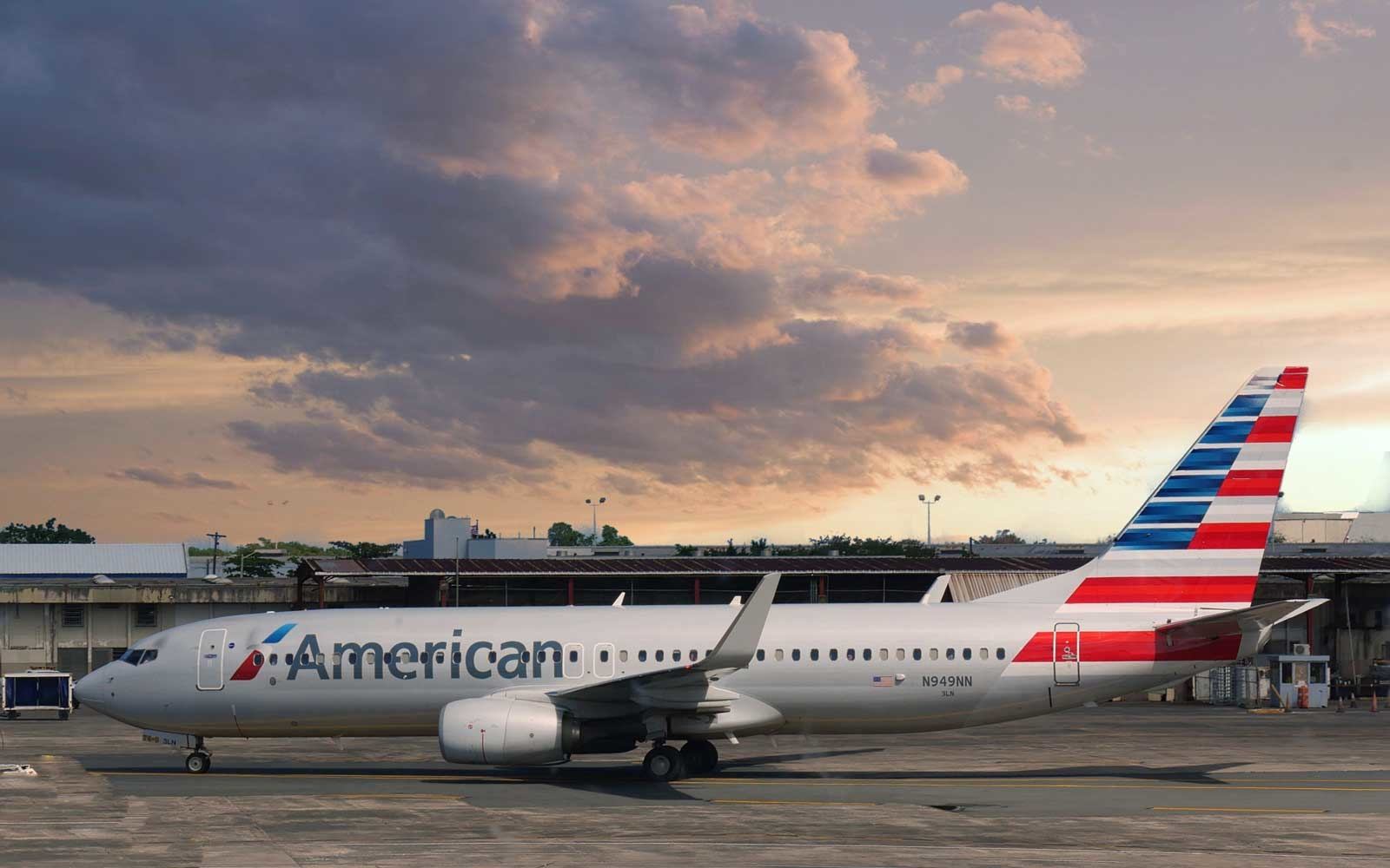 An American Airlines aircraft gets ready for takeoff at the Luis Muñoz Marín International Airport in Puerto Rico.