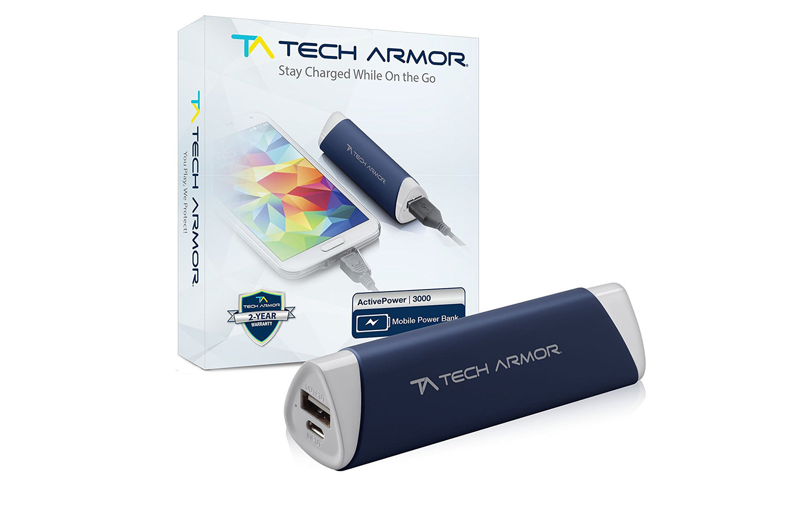 Tech Armor 3000mAh ActivePower PowerBank