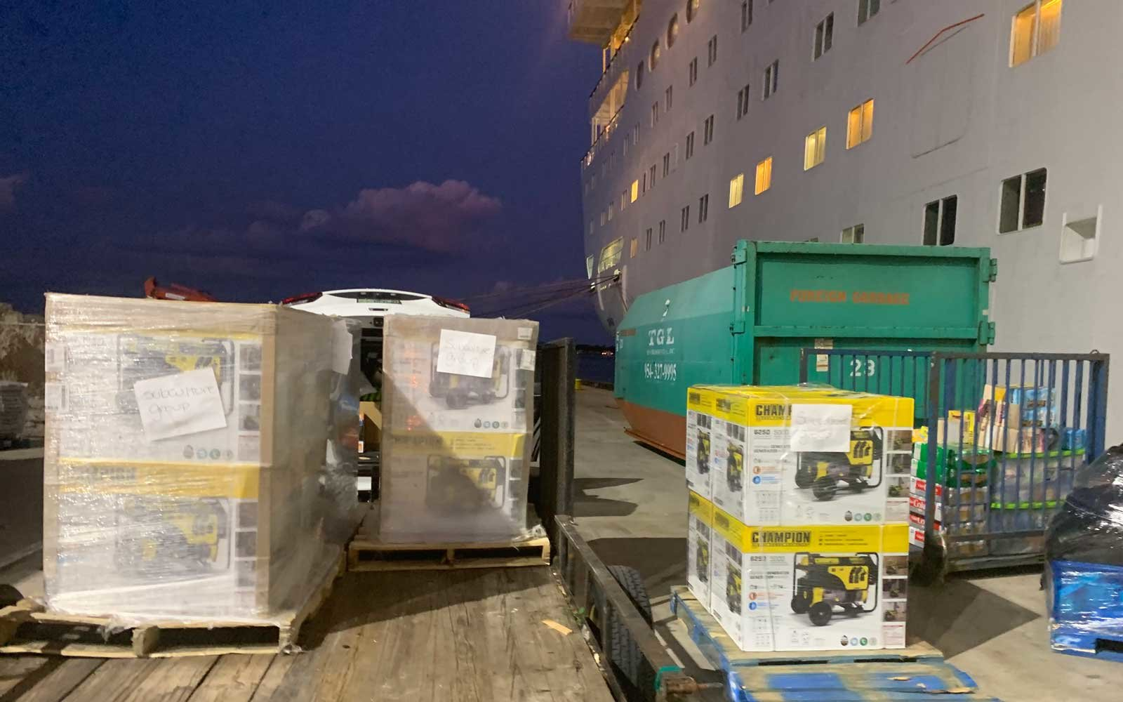 Chef Julien Gremaud's Bahamas Relief Cruise Supply Drop