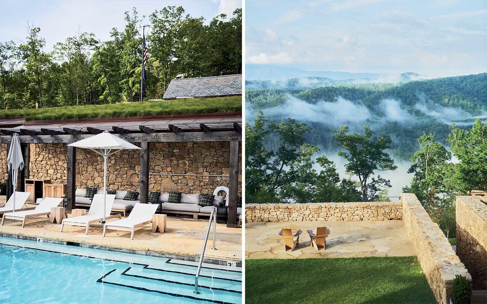 Exterior images of Blackberry Mountain, in Tennessee